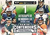 2016 Panini Contenders NFL Football Factory Sealed Retail Box with Autograph or Memorabilia Card Look for Rookies & Autographs of Ezekiel Elliott Dak Prescott Carson Wentz
