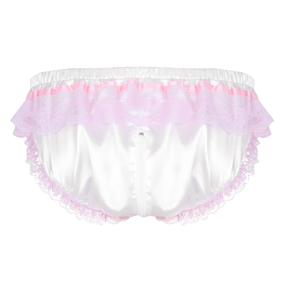 354626064a5cf iiniim Homme Slip String sous-vêtements Culotte Sexy Dentelle Satin ...