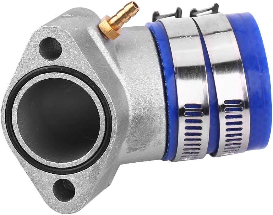Aramox Aluminum Intake Manifold Boot,JA02005 Aluminum Racing Intake Manifold Boot for most GY6 150cc Engine Moped ATV Go Kart