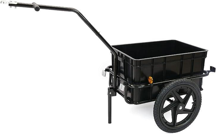 Remolque de bicicleta para carga de 40Kg con caja de 70L: Amazon ...