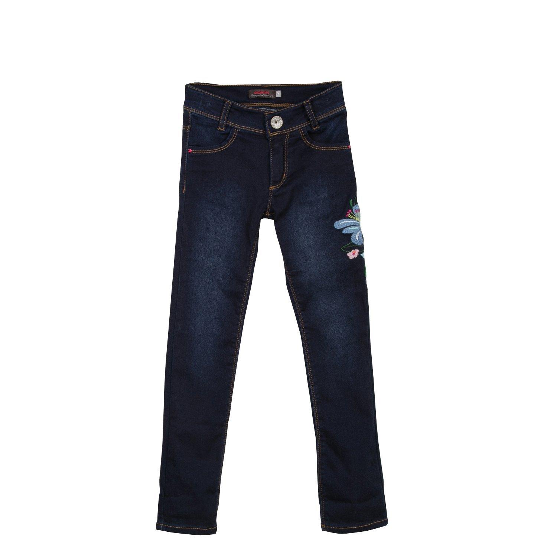 Catimini Embroidered Denim Knit Skinny Jeans