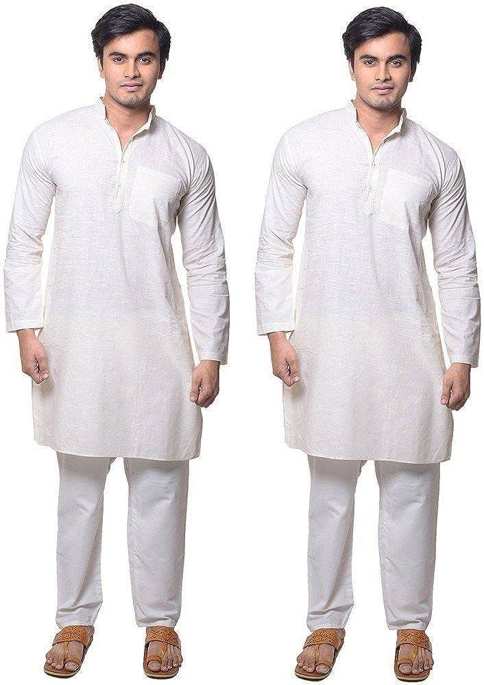 Royal Kurta Men's 100% Pure Cotton Kurta Pyajma Set Of 2 GOLDSTAR-SET0F-2-38A-$P