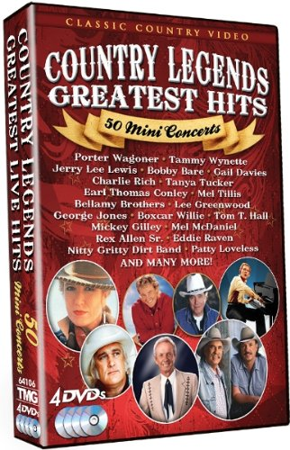 Country Legends: Greatest Hits - 50 Mini Concerts (Best Country Music Videos)