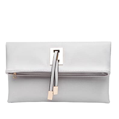Abshoo Women Clutch Purse Evening Faux Leather Clutch Bags (Beige ...