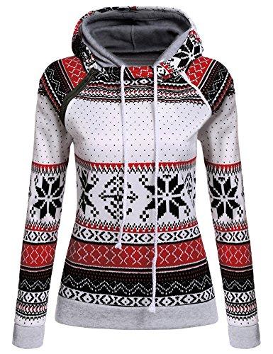 CRAVOG Damen Hoodies mit Schöndruck Kapuzenpullover warm Weihnachtsgeschenk für Freundin und Tochter