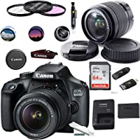 EOS 4000D Digital Camera with EF-S 18-55MM F/3.5-5.6 III Lens + Basic Accessories Bundle (International Version)
