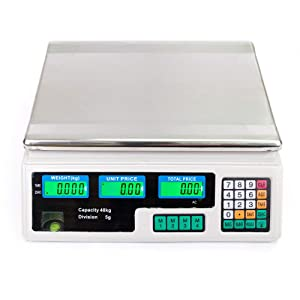 88LB/40KG Food Deli Scale | Food Meat Price Computing Digital Display Weight Scale ACS Electronic Counter Supermarket Retail Outlet Store