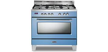 de longhi cucina a gas 5 fuochi forno elettrico ventilato grill mem 965 acx
