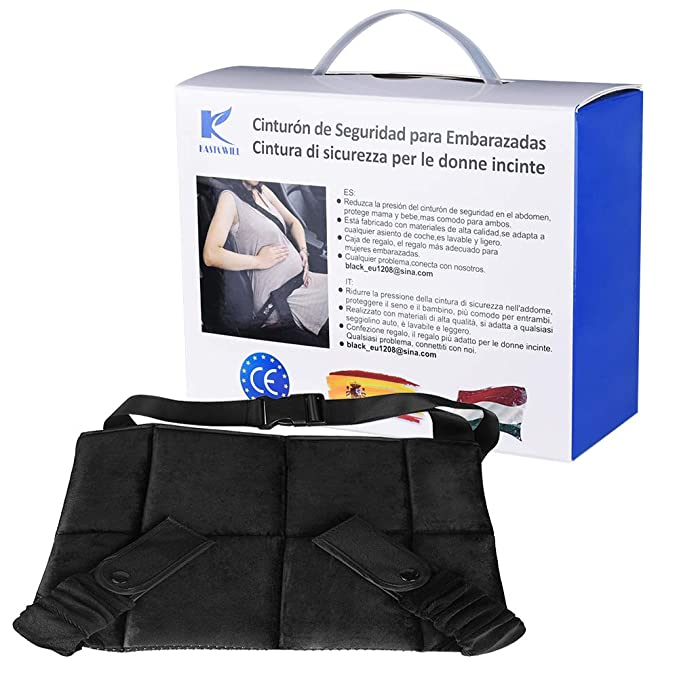KASTEWILL Cinturón para Embarazada de Seguridad Protege a Tu bebé por Nacer Adaptador Cinturón Embarazada