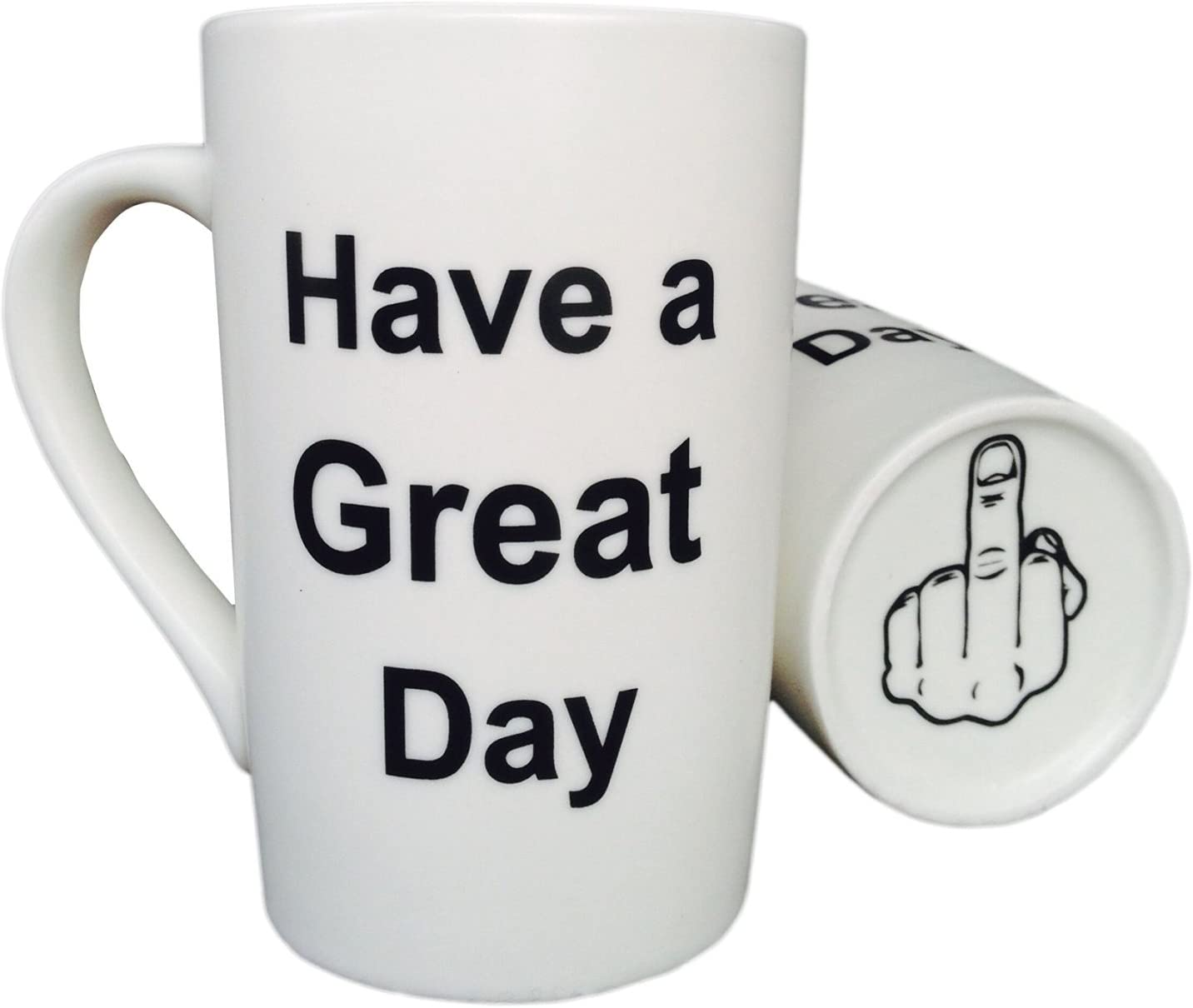 MAUAG Funny Christmas Gifts Coffee Mug Have a Great Day Family Gag Gifts Cup White, 12 Oz