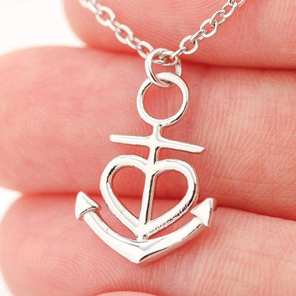 Express Your Love Gifts Amare Anchor Stainless Steel Pendant Necklace Message Card