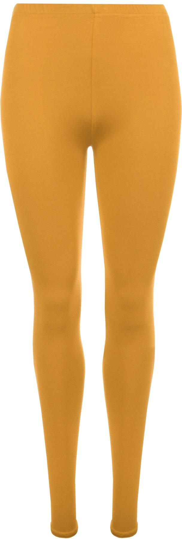 WearAll Plus Size Women's Full Length Leggings - Mustard - US 20-22 (UK 24-26)