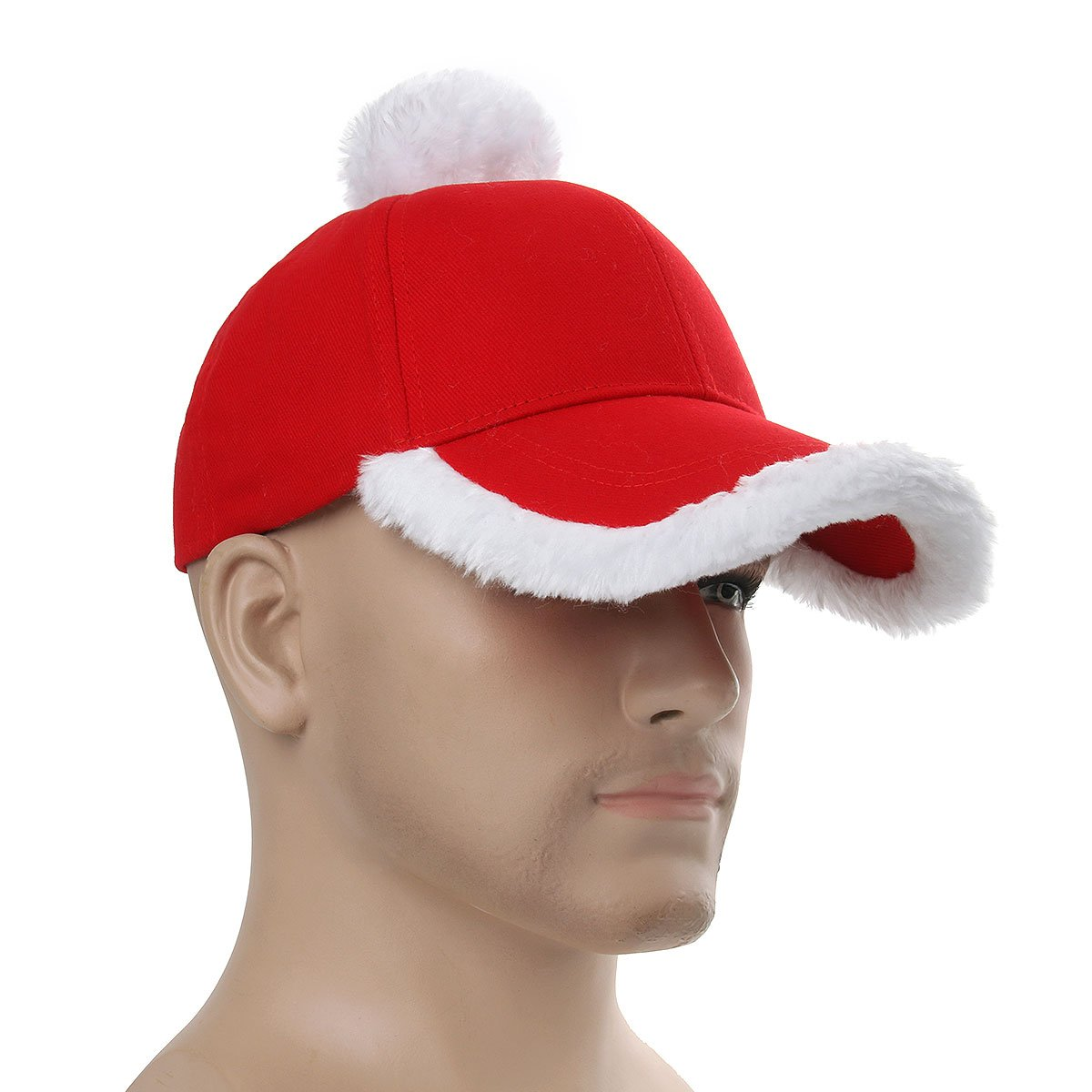 d38cd083cd04a Nofonda Gorra Béisbol Roja de Fiesta de Navidad Sombrero Unisexo de Invierno  Blanco para Mujer Hombre Gorro Lujo de Estilo Padre Santa Claus para Adulto   ...