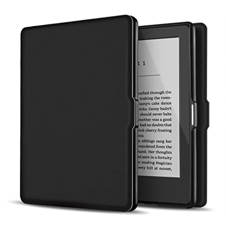 Cover for Kindle - Black 8th Generation, 2016 Protective and Form Fitting Case for All-New Kindle