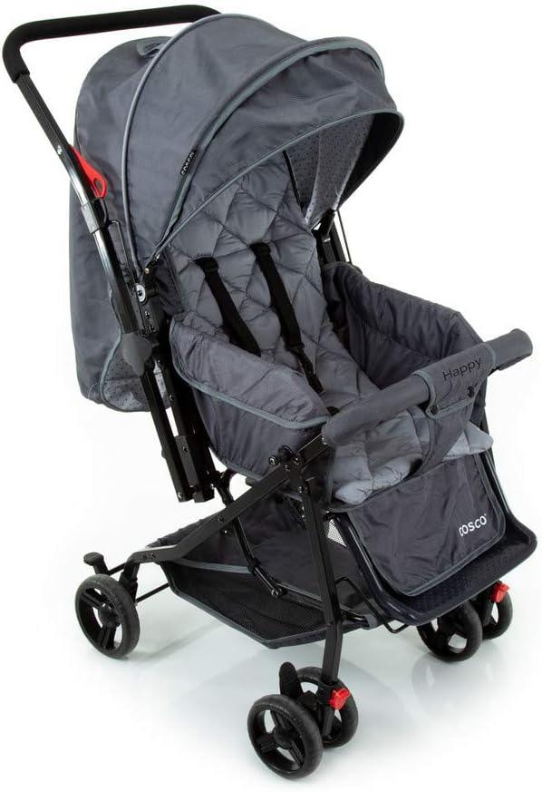 Carrinho de Bebê Happy - Cinza