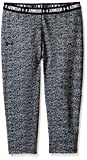 Under Armour Girl's HeatGear Armour Printed Capris, Black (001)/Black, Youth Small