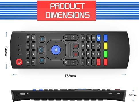 Calvas Air Mouse2.4G USB inalámbrico Flying Mouse Mando a distancia Nfrared Setting Multifuncional Mini teclado para Smart TV para Samsung LG: Amazon.es: Bricolaje y herramientas