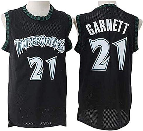 YB-DB Camiseta de la NBA de Baloncesto de los Hombres, Timberwolves de la NBA # 21 Kevin Garnett Baloncesto Ropa cómoda de Malla Bordado Enfriar Baloncesto Retro,XL (85~95kg): Amazon.es: Hogar