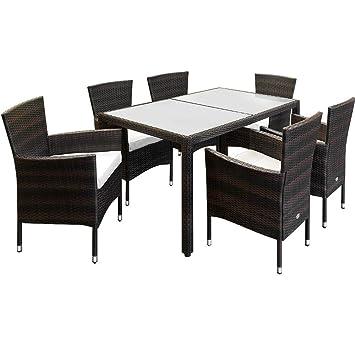 Beliebt Amazon.de: Deuba Poly Rattan Sitzgruppe Braun 6 Stapelbare Stühle CY47