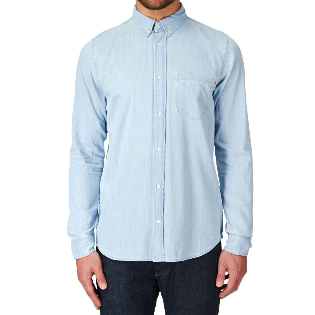 Carhartt Mens Civil Long Sleeve Shirt in Light Blue