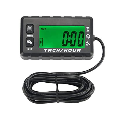 Neoikos Digital Backlit Tach Maintenance Hour Meter Tachometer for Motorcycle Lawn Mower Generator Small Engines Boat Honda Yamaha Dirt Bike ATV UTV Outboard Motor Motocross Tractor Snowboat: Garden & Outdoor