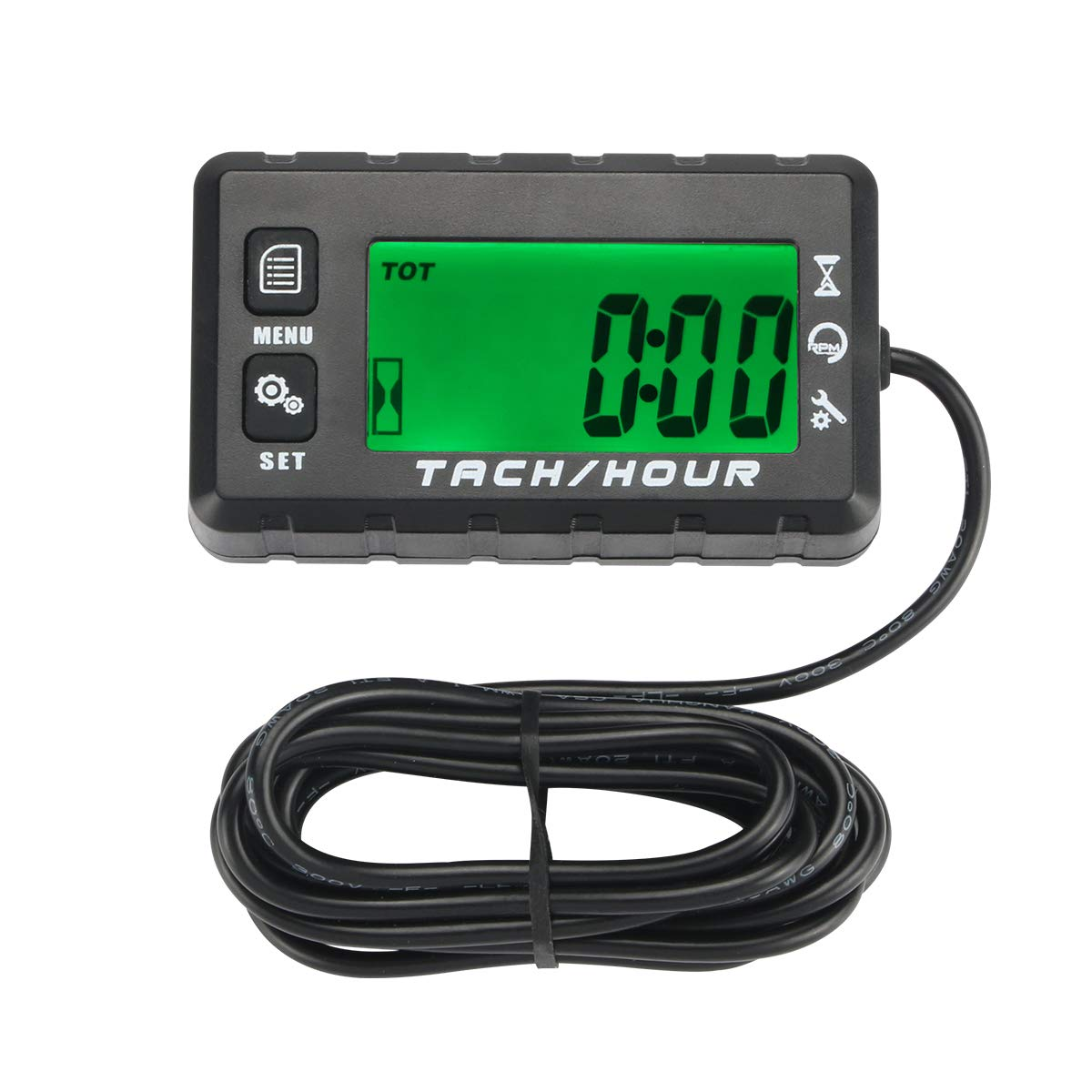Resettable tacho Tach Hour Meter jetboat Motorcycle mower generator engine 2-4st