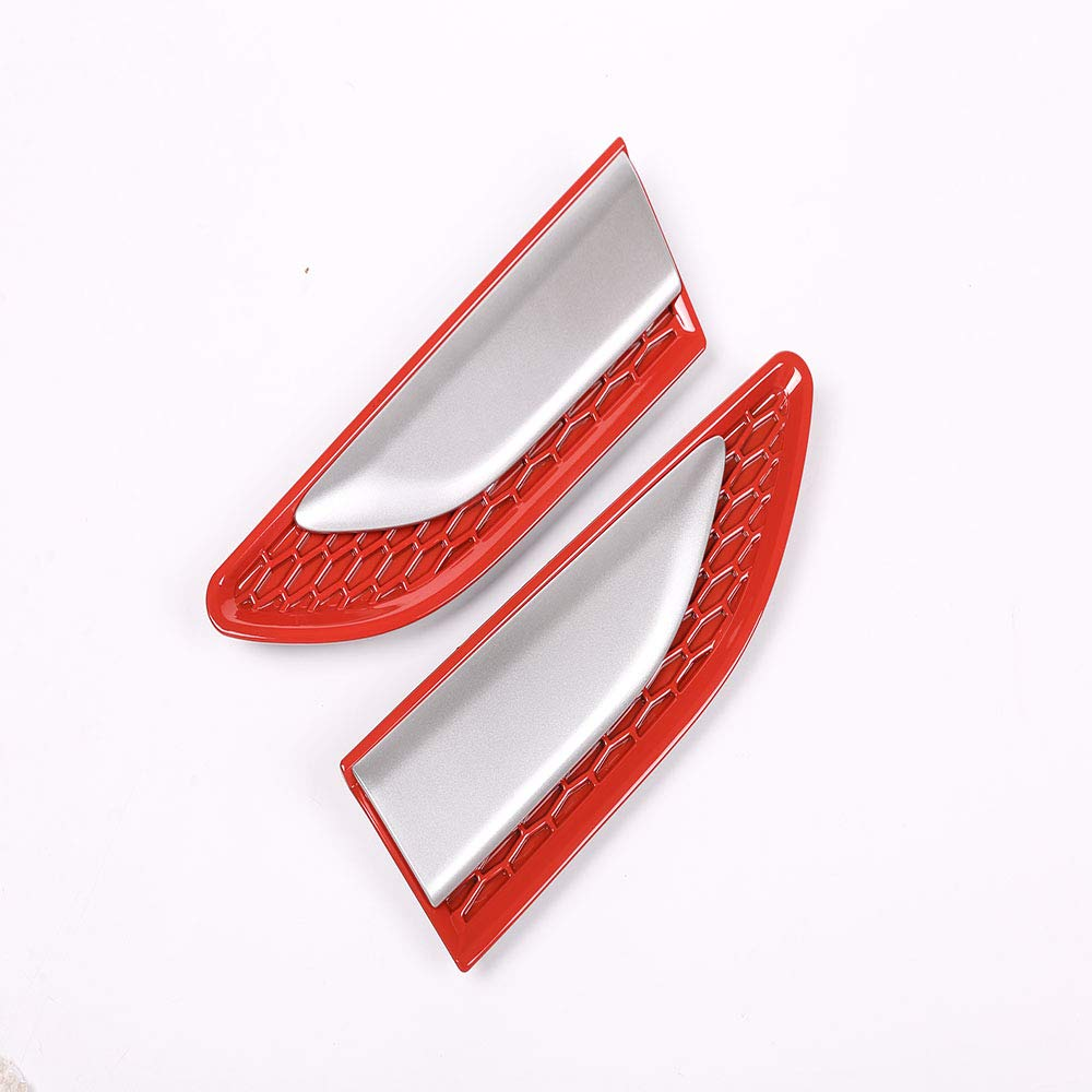 Red Car Side Flow Air Vent Fender Cover Trim For Land Rover Discovery Sport 2015-2018 ABS Replacement Parts 2Pcs//set