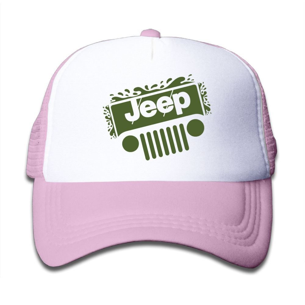Qiop Nee Pink Mesh Baseball Caps Adjustable Youth Hats Jeep Unisex