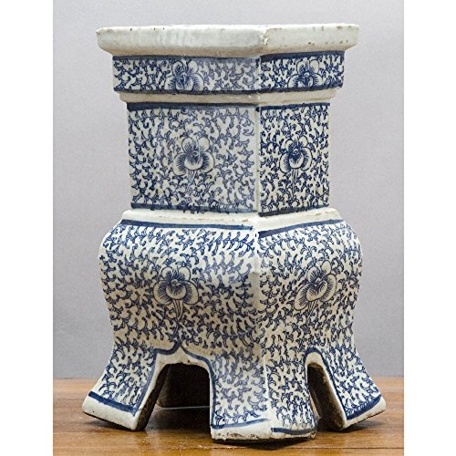 Home decor. Blue And White Rectangle Vase. Dimension: 6 x 5 x 12. Pattern: Blue & White Classic. by OD001 (Image #1)