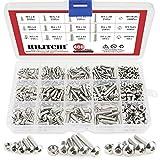 Hilitchi 460-Piece M3 M4 M5 Stainless Steel Button Head Hex Socket Head Cap Bolts Screws Nuts Assortment Kit