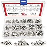 Hilitchi 460-Piece M3 M4 M5 Stainless Steel Button Head Hex Socket Head Cap Bolts Screws Nuts Assortment Kit