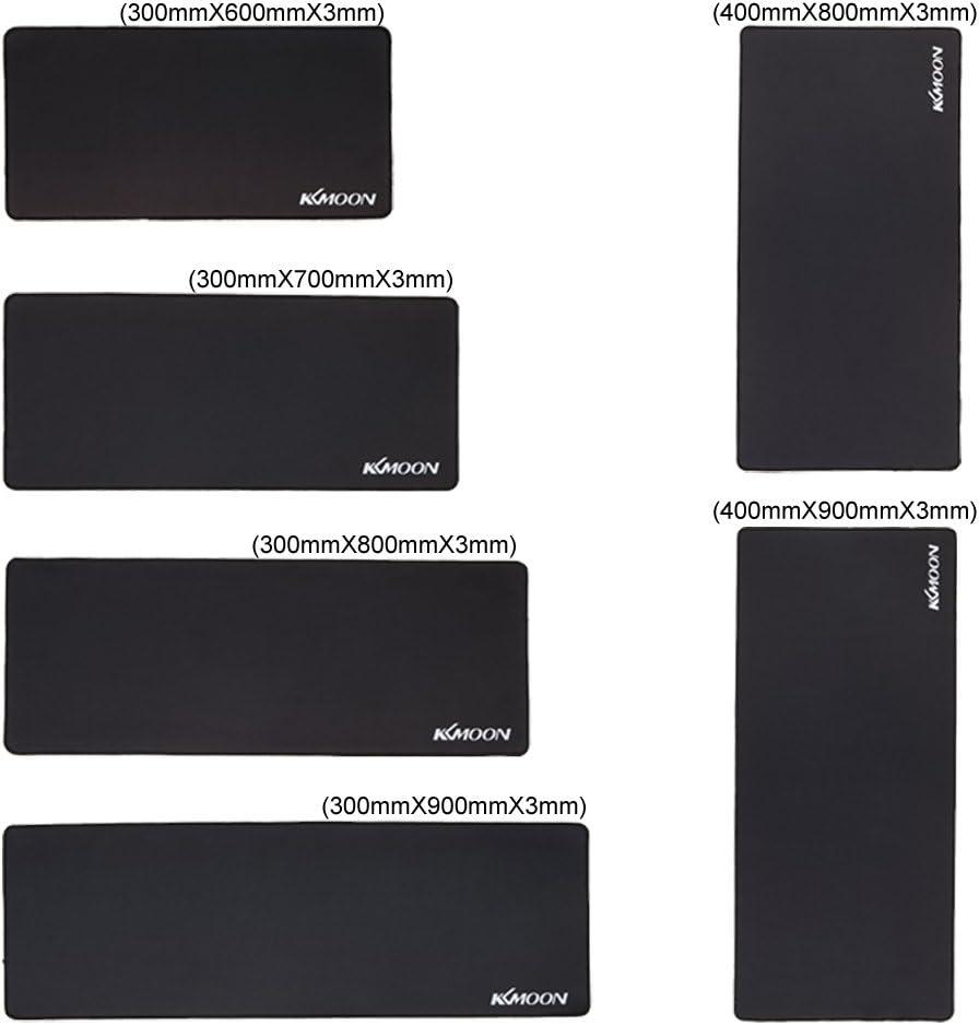 KKmoon 800/x 400 x 3/mm alfombra de rat/ón antideslizante e hidroresistente.