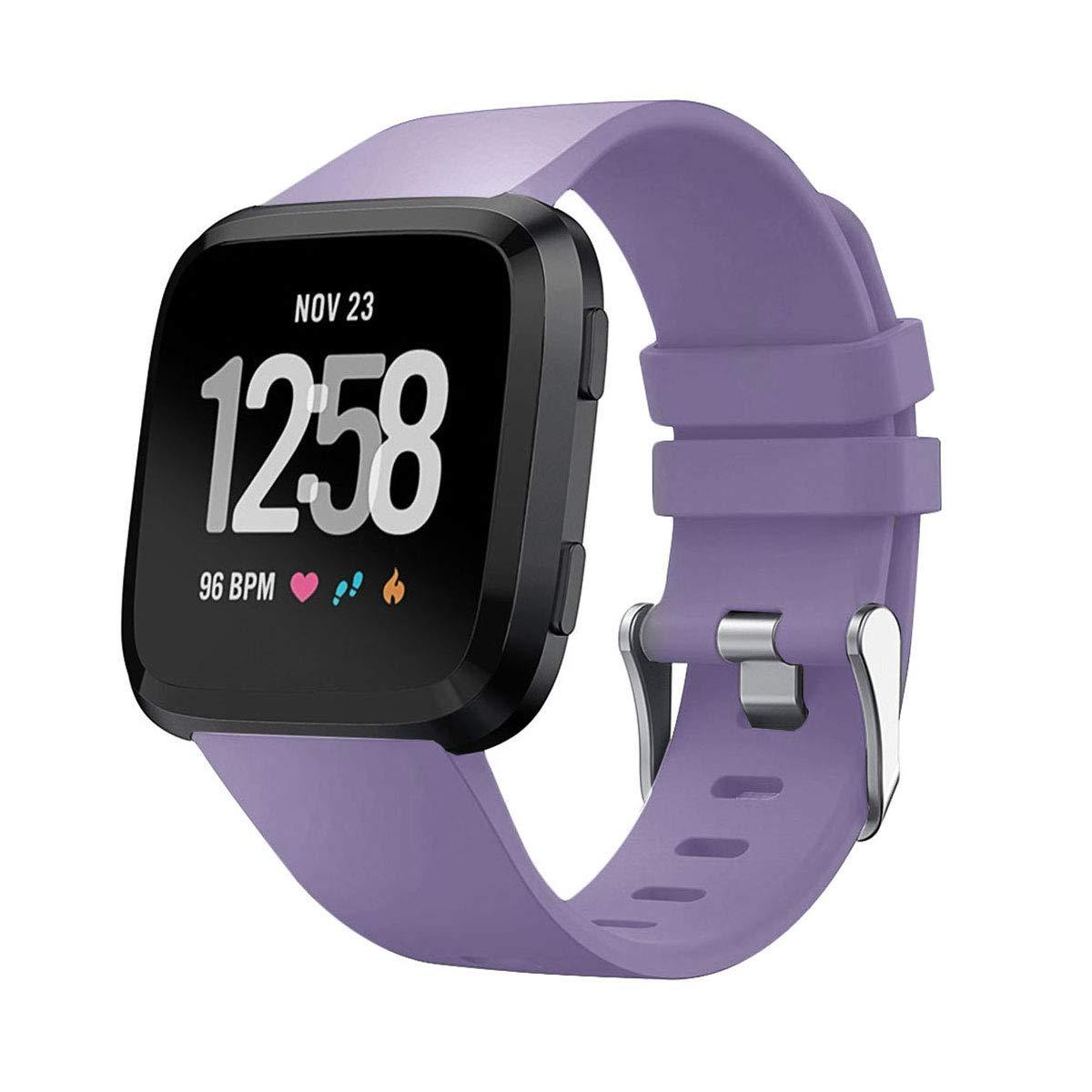 JOMOQ for Fitbit Versaバンド、最新調節可能なスポーツストラップ交換バンドfor Fitbit Versa Smartwatch Fitness Wristbands B07BS665T4 ライトパープル Small