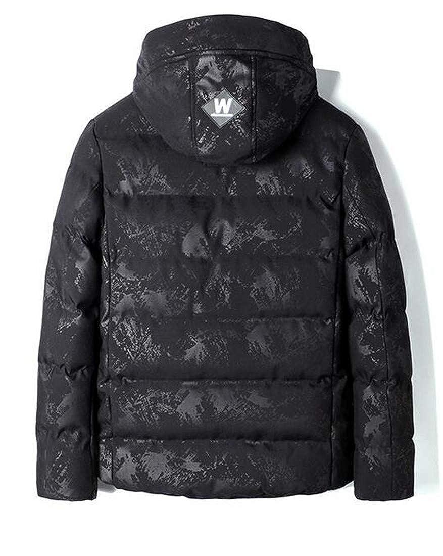 Joe Wenko Mens Casual Fleece Lined Hooded Warm Outwear Parkas Coats Jacket