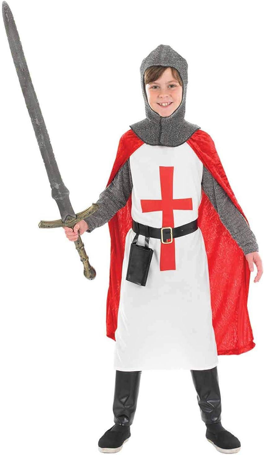 Girls Boys Kids 4 Piece Childrens Knight Weapons Armour Fancy Dress Accessory