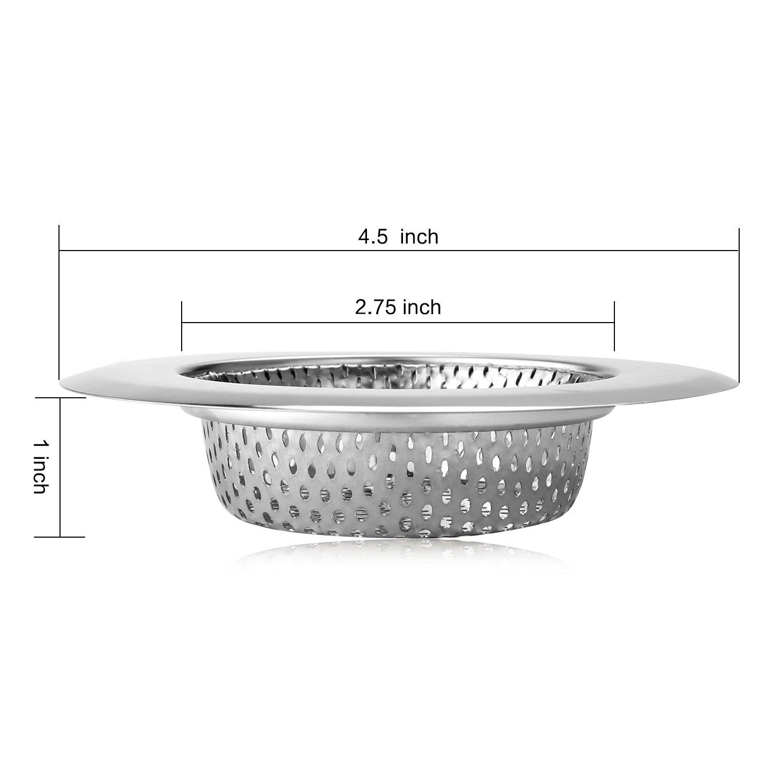 Sink Strainer GLAREE Stainless Steel Kitchen Filter Mesh Basket