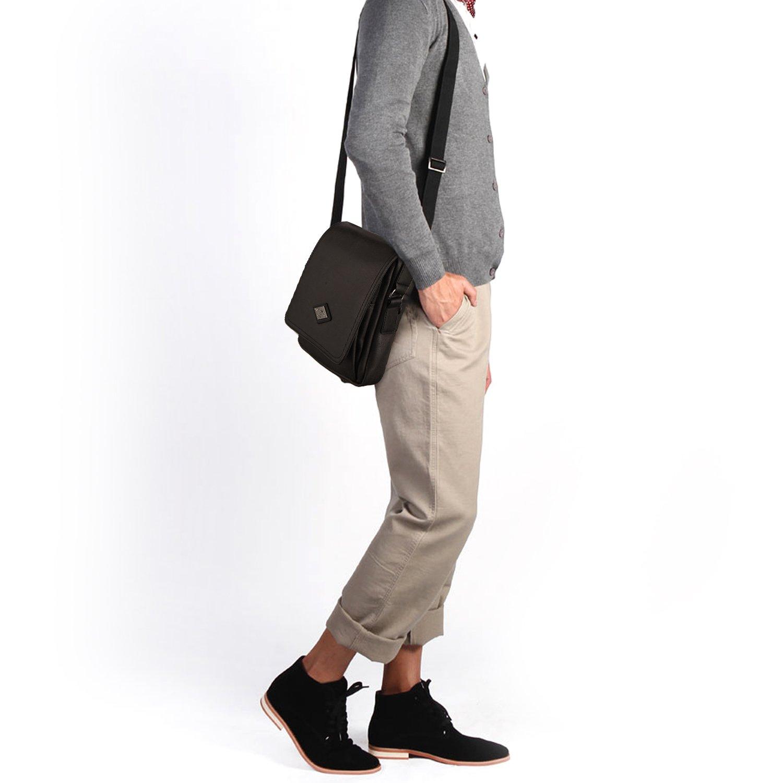 8803b5d4b5 LEE COOPER - sac bandoulière homme - sac besace - sacoche à porter épaule –  noir