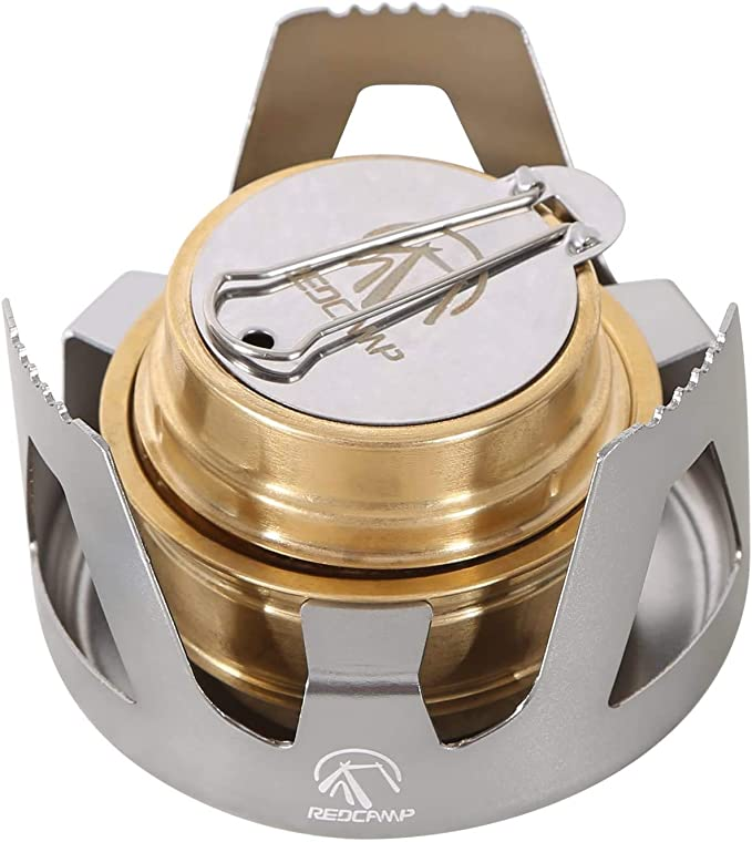 Alcohol Stove with Lid Outdoor Ultralight Mini Spirit Burner Picnic Camping