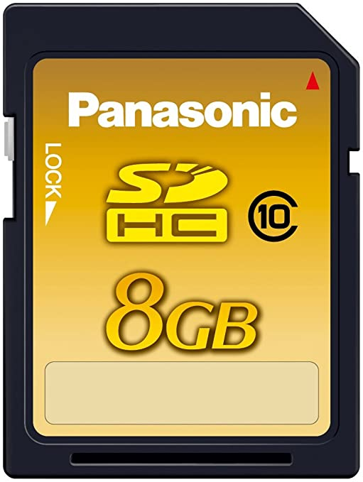 Amazon.com: Panasonic 8 GB SDHC Clase 10 tarjeta de memoria ...