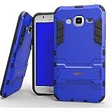 Heartly Samsung Galaxy J5 (2015) SM-J529F Back Cover Graphic Kickstand Hard Dual Rugged Armor Hybrid Bumper Case - Power Blue