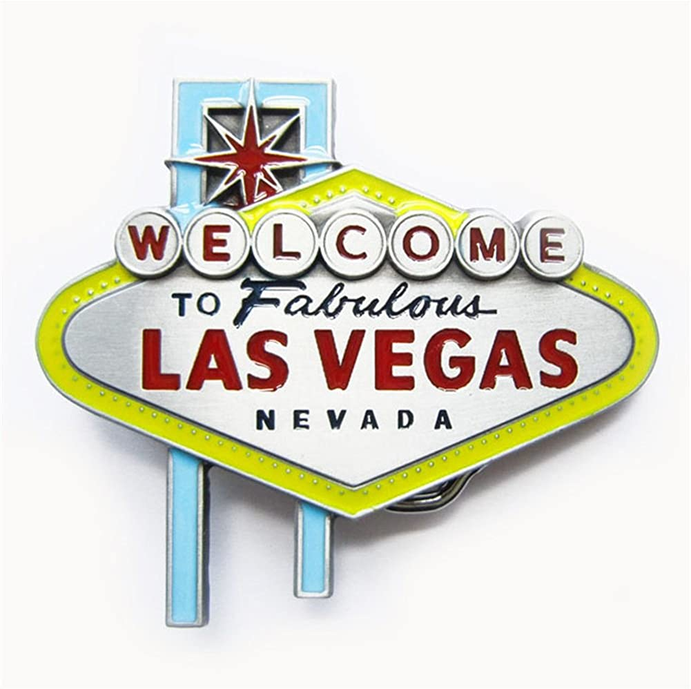 New Vintage Enamel Nevada Las Vegas Sign Belt Buckle Gurtelschnalle
