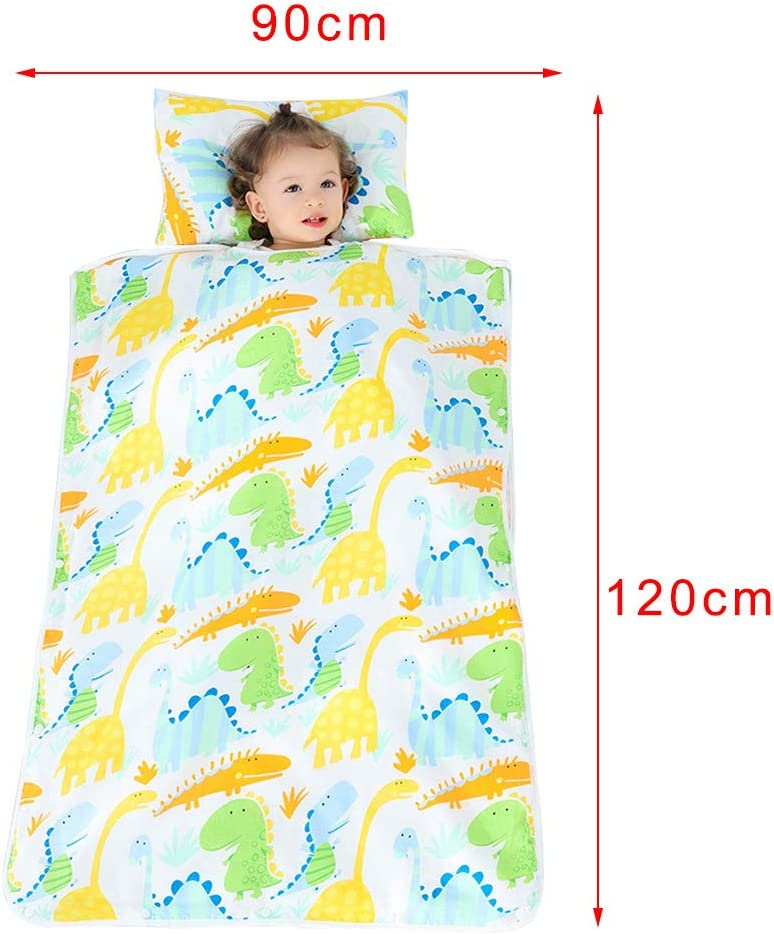 preescolar 70x100cm//28x39inch A2 saco de dormir con almohada extra/íble suave y manta para ni/ños y ni/ñas siesta en la guarder/ía Manta para ni/ños y ni/ñas de la siesta