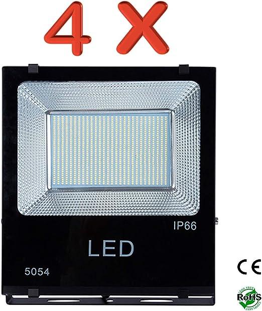 PACK DE 4 Focos Proyectores Led 100W SMD Exterior IP65-Luz Blanca ...