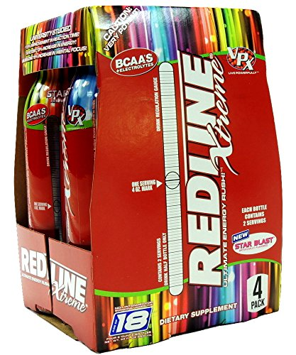 VPX Sports REDLINE xtreme ULTIMATE ENERGY RUSH STAR BLAST...