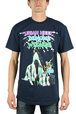 8ba0ee8859f Amazon.com  Uriah Heep - Mens Demons and Wizards T-Shirt in Navy ...
