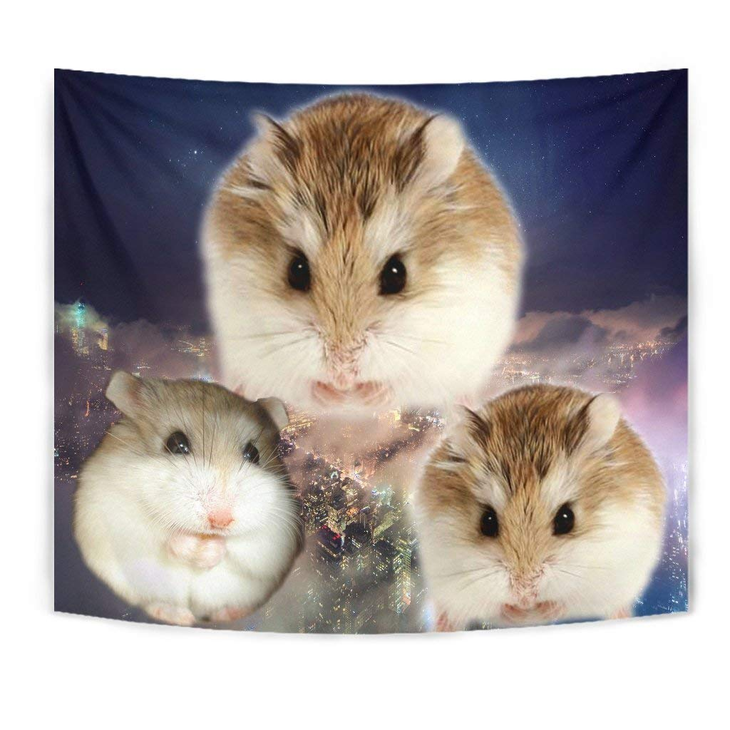 Cute Roborovski Hamster Print Tapestry by Paws With Attitude