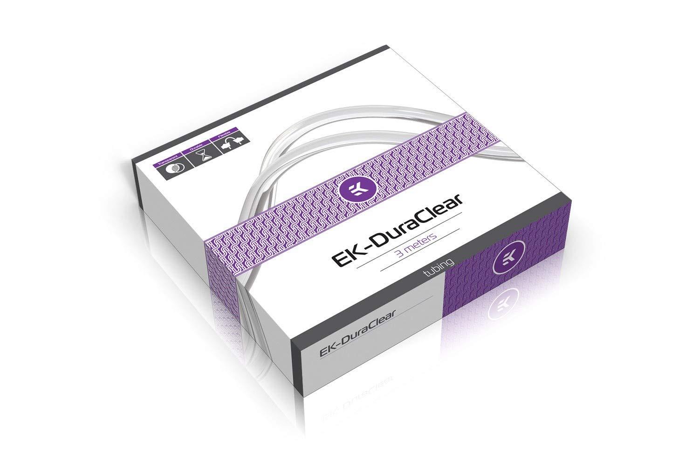 """EKWB EK-DuraClear Soft Tubing, 12/16mm (7/16"""" ID, 5/8"""" OD), 3 Meter, Clear"""