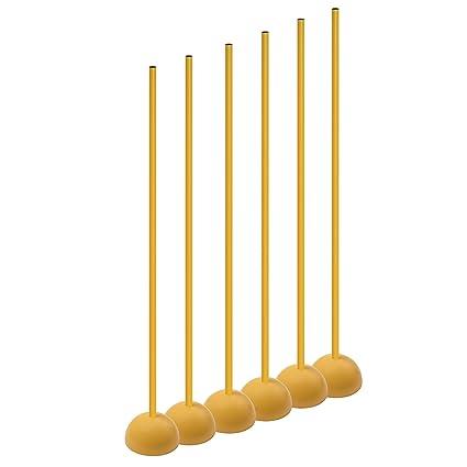 Amazon.com: Champion Sports Entrenamiento Sticks con base ...