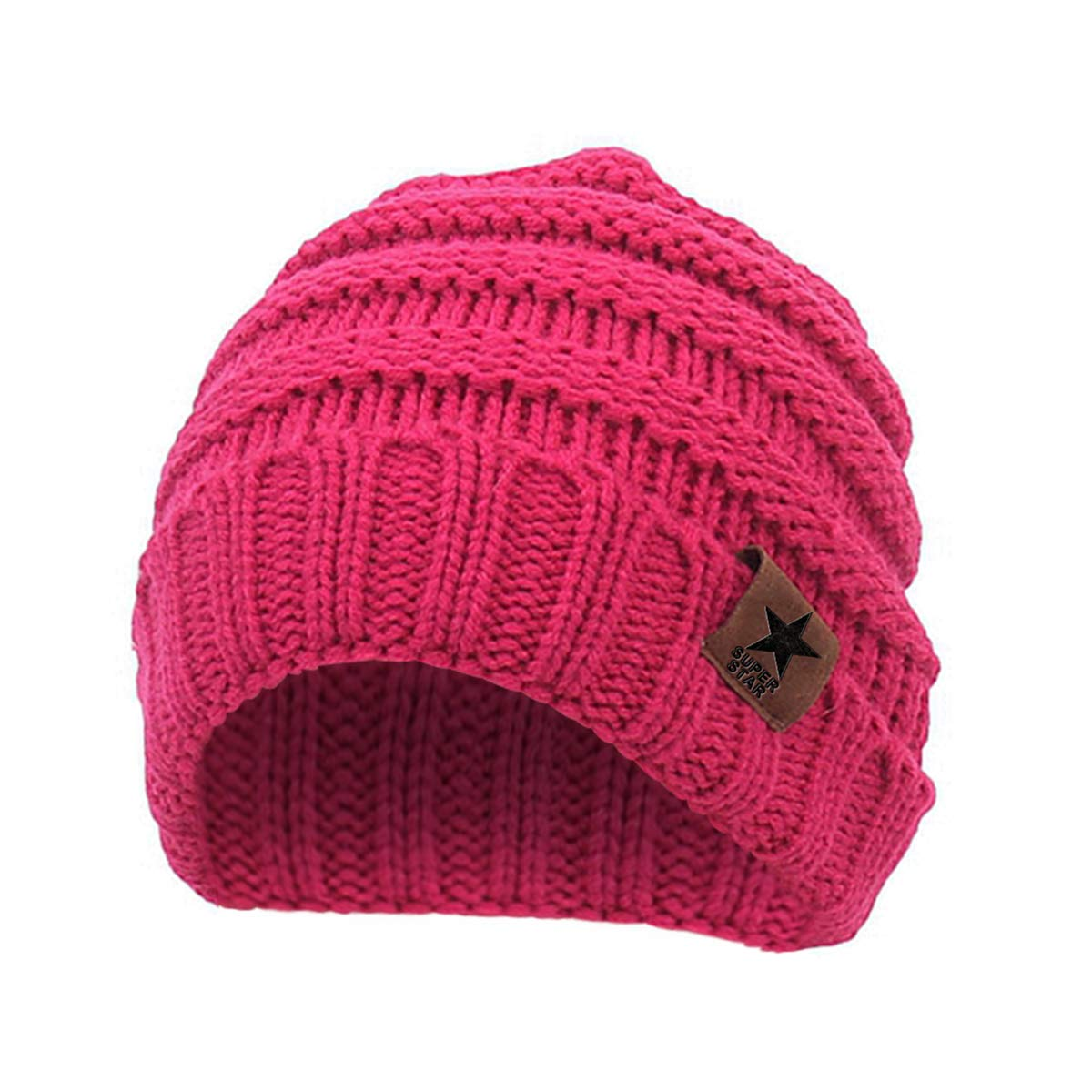 Durio Soft Lovely Knited Warm Infant Toddler Kid Baby Winter Hats Caps Cute Baby Beanies for Boys Girls 0-2 Years