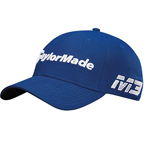 ab9f7342424 TaylorMade 2018 New Era Tour Authentic 39Thirty M3 TP5 Stretch Fit Mens  Golf Hat Royal